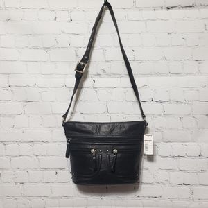 Stone & Co. NWT Black Leather Crossbody